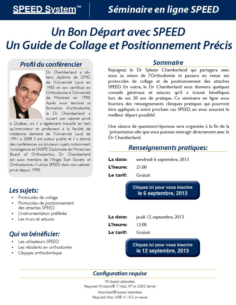 Bon départ avec SPEED™ Guide de collage et positionnement précis-Dr Chamberland orthodontiste à Québec