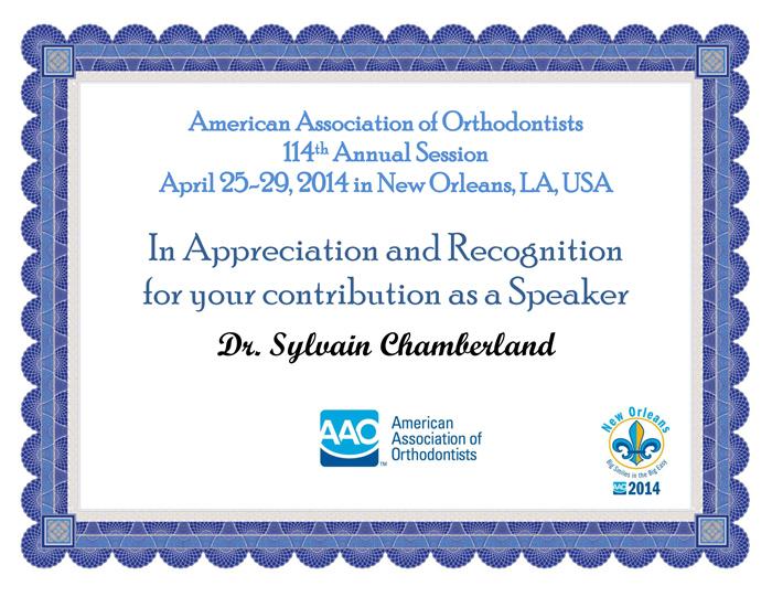 Chamberland-AAO-speaker-certificate