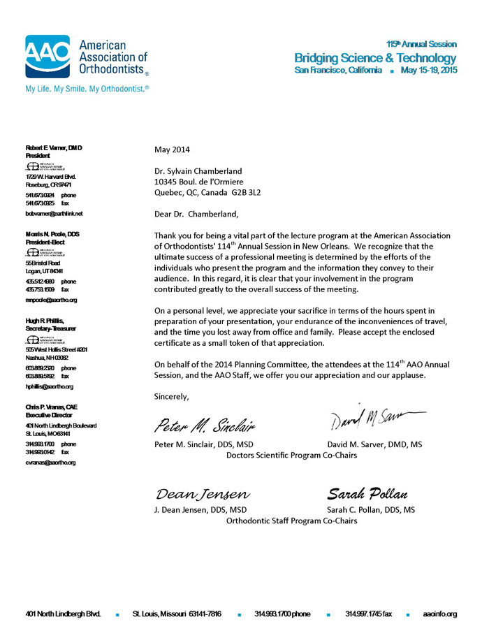 Chamberland-AAO-thank-you-letter-from-Peter-Sinclair-et-David-Sarver