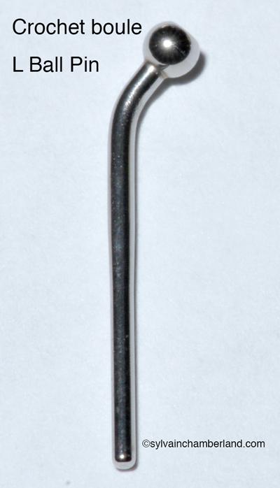 Crochet boule L ball pin-Dr Chamberland orthodontiste à Québec